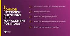 Job Interview Questions For Supervisor Position 5 Common Management Interview Questions And Answers How