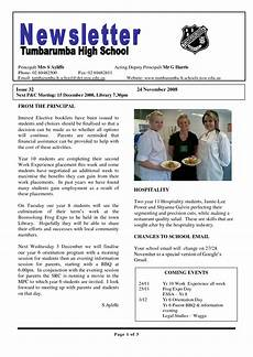 Newsletter Examples 17 Awesome High School Newsletter Templates Images