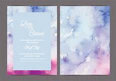 Watercolor Wedding Cards Vector Watercolor Wedding Invite Download Free Vectors