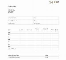 Standard Time Sheet 10 Best Timesheet Templates To Track Work Hours