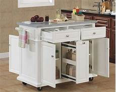 These 10 Portable Islands Work In Your Kitchen Portable Kitchen Island Kitchen Islands And Kitchens On