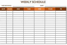 Printable Work Schedules Free Work Schedule Templates For Word And Excel Smartsheet