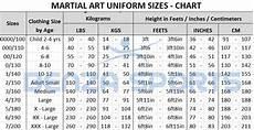 Ata Uniform Size Chart Taekwondo Uniforms Taekwondo Gi S Size 5 180 Cm