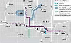 Light Rail Map Phoenix Tempe Phoenix Studies Southern Route For Expanding Light Rail