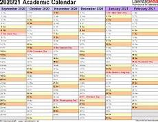 Academic Calendar Template 2020 17 Excel Academic Calendars 2020 2021 Free Printable Word Templates