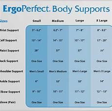 Body Size Chart Ergoperfect Body Support Size Chart