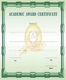 Academic Award Certificate 32 Free Award Certificate
