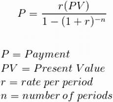 Payment Formula Loans Calculating Total Number Of Monthly Payments In