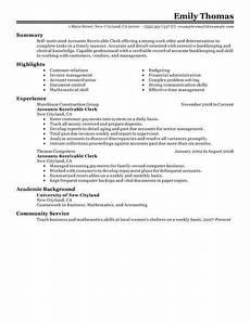 Accounts Receivable Resume Best Accounts Receivable Clerk Resume Example Livecareer