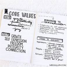 Values Examples How To Identify Your Personal Core Values Meka Allen