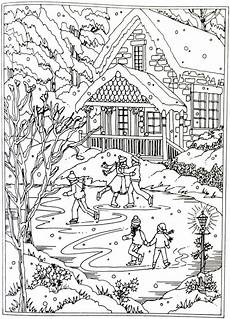 Ausmalbilder Haus Mit Schnee 35 Weihnachtliche Ausmalbilder F 252 R Erwachsene Zum