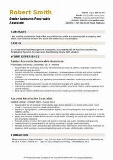 Accounts Receivable Resume Accounts Receivable Associate Resume Samples Qwikresume
