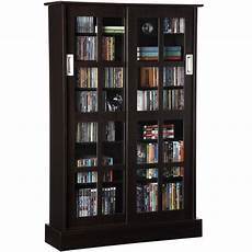 media cabinet with glass doors in media storage cabinets
