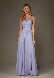 chiffon bridesmaid dress with beaded bodice and cap