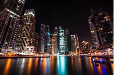Dubai Night Lights Night City Lights Dubai United Arab Emirates