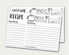 Recipe Cards Printable Recipe Cards Printable Recipe Card Doodles Recipe Card Diy