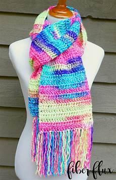 fiber flux absolute beginner crochet scarf free crochet