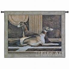 greyhound fresco animal wall tapestry dogs picture h42