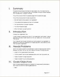 Sample Project Outline Project Outline Template For Word Word Amp Excel Templates