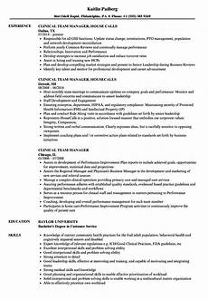 Clinical Trial Manager Resume Clinical Team Manager Resume Samples Velvet Jobs