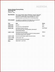 Business Agenda Format 8 Agenda Sample Templates Sampletemplatess