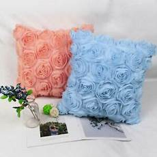 Floral Sofa Slipcover 3d Image by 3d Chiffon Flower Throw Pillow Cushion Cover For