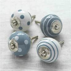 grey spots stripes ceramic cupboard door knob drawer