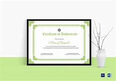 Authentication Certificate Format Certificate Of Authenticity Design Template In Psd Word
