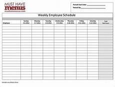 Staff Schedule Template Weekly Employee Work Schedule Template 17 Free Word Excel