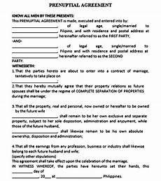 Prenuptial Agreement Templates Printable Prenuptial Agreement Template Mous Syusa
