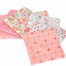 fabric crafts quilting 7pcs 100 cotton fabric orange series squares quilt fabric