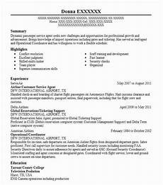 Airline Customer Service Agent Resume Airline Customer Service Agent Resume Sample Livecareer