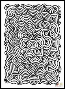 psychedelic pattern coloring page free printable