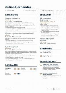 Systems Engineer Resume Systems Engineer Resume Examples Pro Tips Featured Enhancv