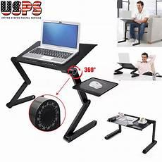 black 360 176 adjustable folding laptop table desk bed