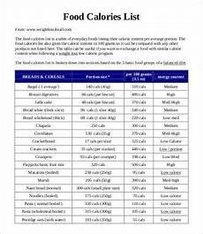 Free Download Calorie Chart 11 Food Calorie Chart Templates Pdf Doc Free