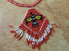 beadwork sioux sioux beaded thunderbird necklace vintage