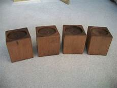 set of 4 alder wood bed risers furniture blocks leg