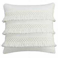 chambray dot square throw pillow in white bed bath beyond