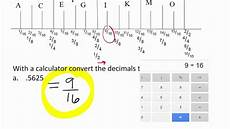 Converting Quot Ruler Quot Decimals To Fractions 1 Youtube