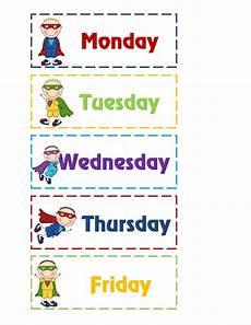Printable Days Of The Week Chart Elegant Printables Days Of The Week Fun Worksheet