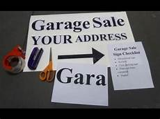 How To Make A For Sale Sign Garage Sale Sign How To Make A Homemade Garage Sale Sign