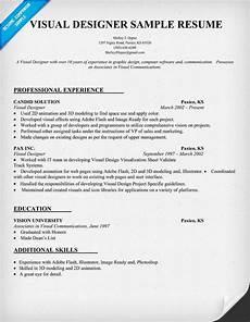 Visual Designer Resume Sample Visual Designer Resume Template Resumecompanion Com