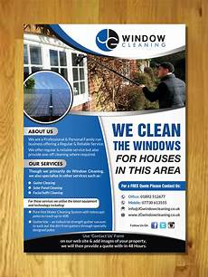 Window Cleaning Flyers Modern Elegant Window Cleaning Flyer Design For Jg