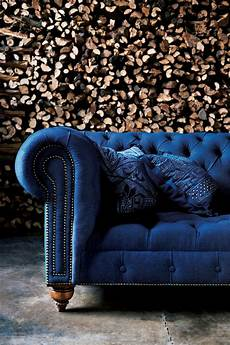 Blue Velvet Tufted Sofa 3d Image by Rlh Chesterfield Tufted Sofa Rlhcollection Blue