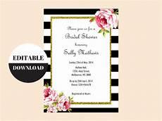 Free Editable Invitation Templates Black And White Floral Editable Invitation Magical Printable