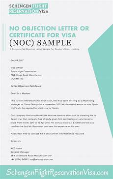 Sample No No Objection Letter For Visa Application And Sample