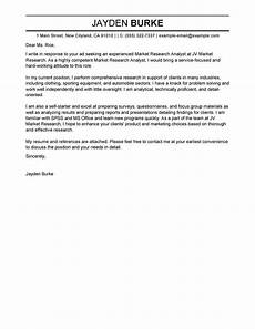 Cover Letter For Survey Outstanding Market Researcher Cover Letter Examples