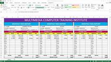 Sales Reports Excel How To Make Fees Report Card In Ms Excel Youtube