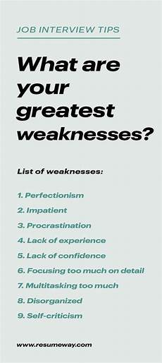 Examples Of Strengths And Weaknesses Interview Strengths And Weaknesses For Job Interviews Great Answers
